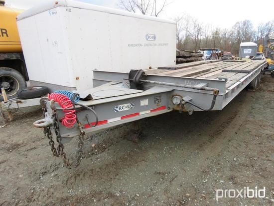 1998 BROOKS BROTHERS TAGALONG TRAILER VN:274031 equipped with rear ramps, tandem axle.--------ALEX
