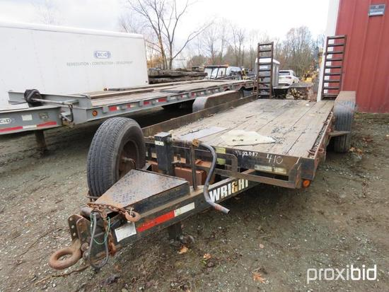 2009 WRIGHT WT162SS UTILITY TRAILER VN:132087 equipped with 16ft. Deck, rear ramps, ST235/85R16