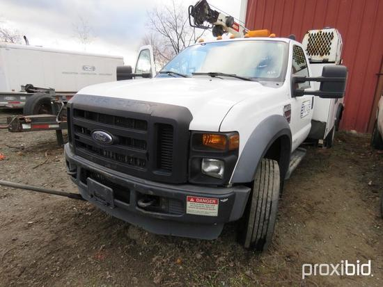 2009 FORD F550XL SERVICE TRUCK VN:A86020 powered by Powerstroke V8 diesel engine, equipped with