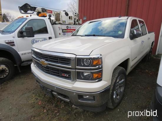 2014 CHEVY 1500 SILVERADO Z71 PICKUP TRUCK VN:496074 4x4, powered by 5.3L gas engine, equipped with