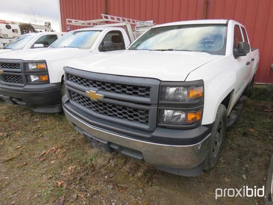 2014 CHEVY 1500 SILVERADO PICKUP TRUCK VN:307444 powered by 4.3L gas engine, equipped with automatic