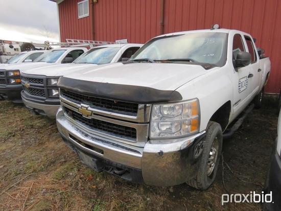 2008 CHEVY 2500HD PICKUP TRUCK VN:121965 4x4, powered by Vortec gas engine, equipped with automatic