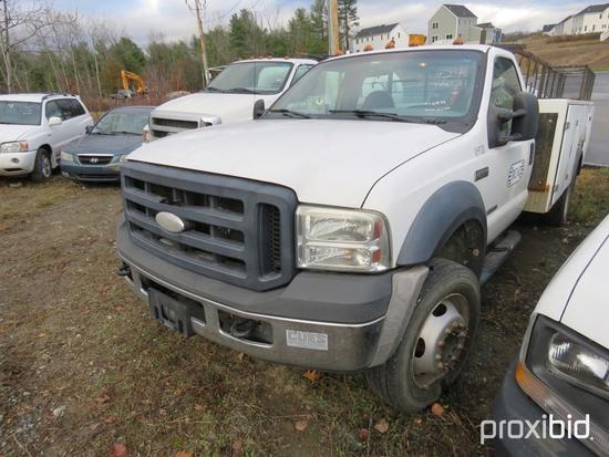 2007 FORD F550XL UTILITY TRUCK VN:A61514 powered by Powerstroke V8 Turbo diesel engine, equipped