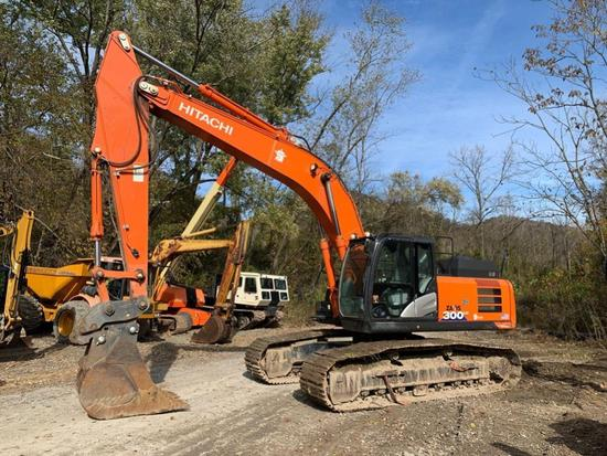 2017 HITACHI ZX300LC-6N HYDRAULIC EXCAVATOR SN:CHF840177 powered by diesel engine, equipped with