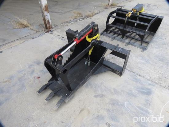 NEW ALLSTAR 48IN. ROOT GRAPPLE SKID STEER ATTACHMENT