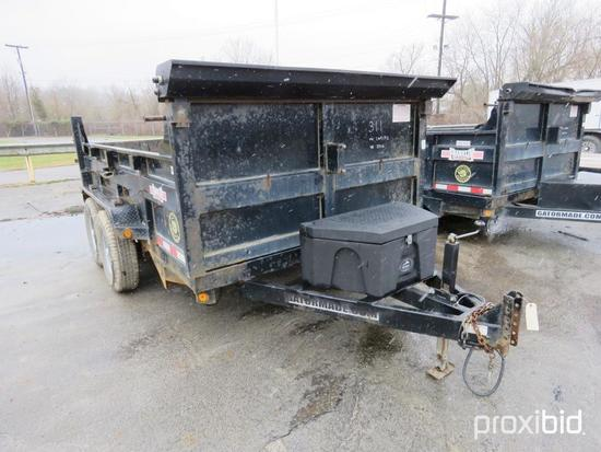 2016 GATORMADE DUMP TRAILER VN:5LEB1D223H1169192 equipped with 7 X 12 dump body, tandem axle.