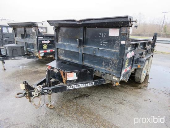 2016 GATORMADE DUMP TRAILER VN:5LEB1D220G1168323 equipped with 7 X 12 dump body, tandem axle.