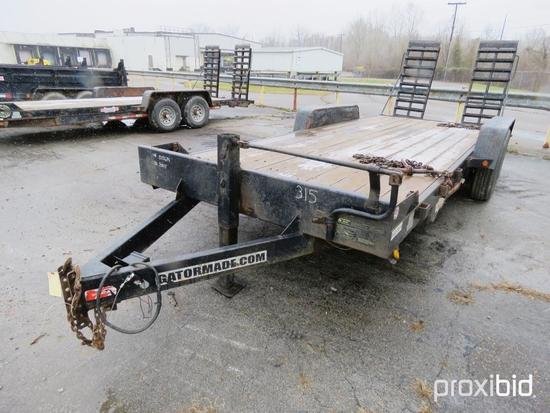 2015 GATORMADE TAGALONG TRAILER VN:4Z1HD2020FS015614 equipped with 7 ton capacity, 20ft. deck, tande