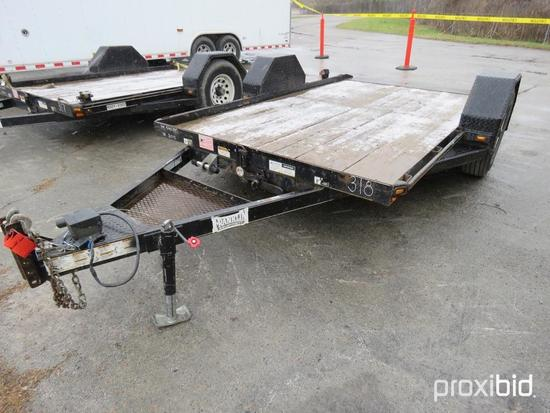 2015 CORN PRO UT-12 UTILITY TRAILER VN:FE065299 equipped with 12ft. Deck, single axle.