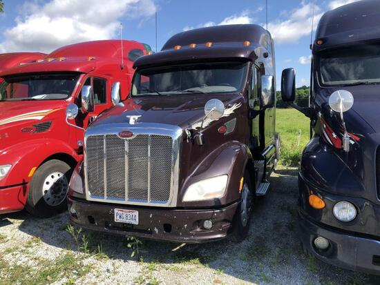 2013 PETERBILT 587 TRUCK TRACTOR VN:1XP4DP9X0DD123809 powered by Paccar MX13 diesel engine, equipped