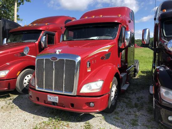 2013 PETERBILT 587 TRUCK TRACTOR VN:1XP4DP9X1DD123799 powered by Paccar MX13 diesel engine, equipped
