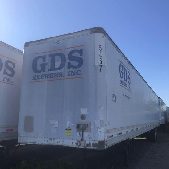 1999 STOUGHTON VAN TRAILER VN:1DW1A5321XS314812 equipped with 53ft. Van body, spring suspension, swi