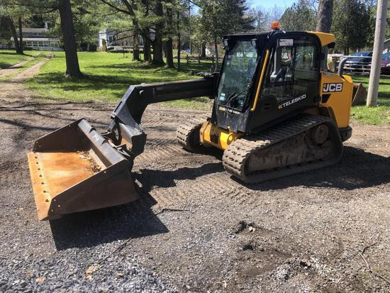 2017 JCB 3TS/8T RUBBER TRACKED SKID STEER SN:2562222 powered by JCB diesel engine, equipped with ERO