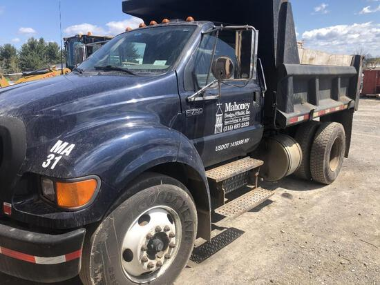 2005 FORD F750XL DUMP TRUCK VN:147806 powered by Cummins ISB 5.9L diesel engine, equipped with autom