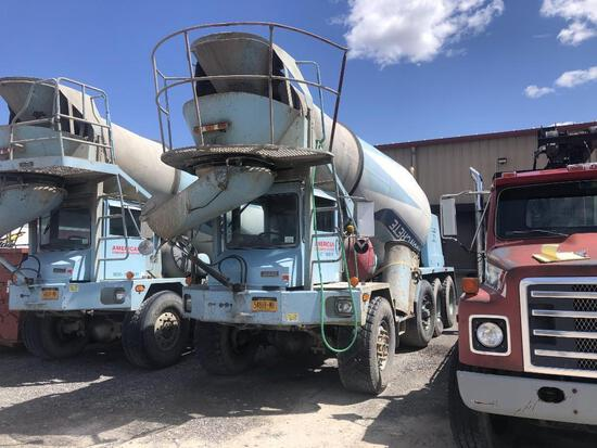 1995 ADVANCE CL8AP6811 CONCRETE MIXER TRUCK VN:7029 6x8, powered by Cummins diesel engine, equipped