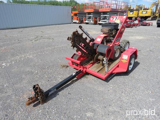 2009 BARRETO E1624D4-4S TRENCHER SN:X1085 4x4, powered by gas engine, equipped with 2ft. Trencher.BO