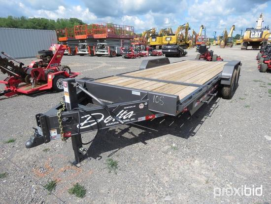 NEW DELTA 27TB TAGALONG TRAILER V-50544 equipped with 16ft. Tilt deck, 4ft. Stationary deck, chain