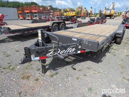 NEW DELTA 27TB TAGALONG TRAILER V-50542 equipped with 16ft. Tilt deck, 4ft. Stationary deck, chain