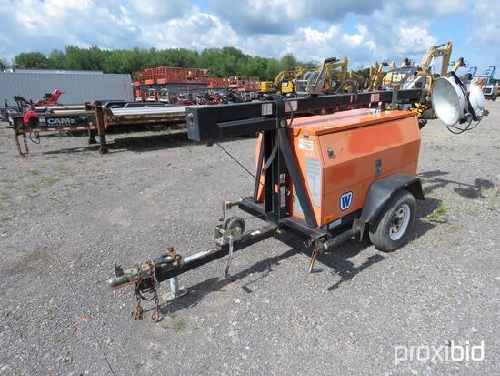WANCO WLTC4L6MTD LIGHT PLANT SN:4453 powered by diesel engine, equipped with 4-1,000 watt lightbulbs