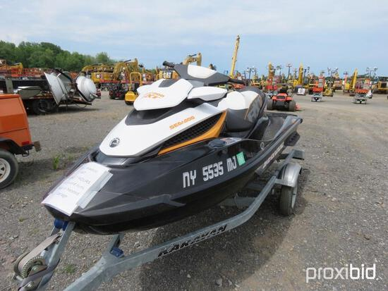 SEA DOO RXT250 JET SKI RECREATIONAL VEHICLE VN:14012 comes with trailer. BOS ONLY FOR TRAILER REG