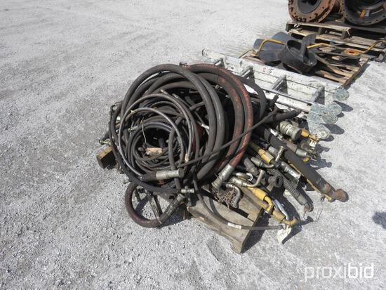 PALLET OF HYDRAULIC HOSE EQUIPMENT PART
