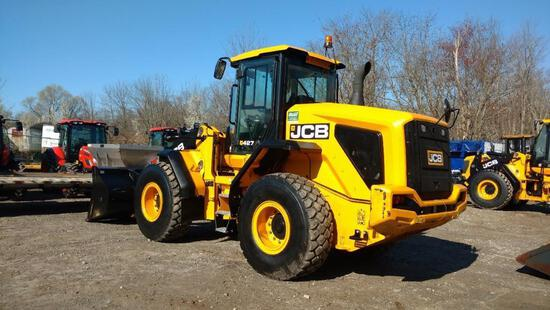 2017 JCB 427 ZX T4F RUBBER TIRED LOADER SN:JCB42702TH2407440 powered by diesel engine, equipped with
