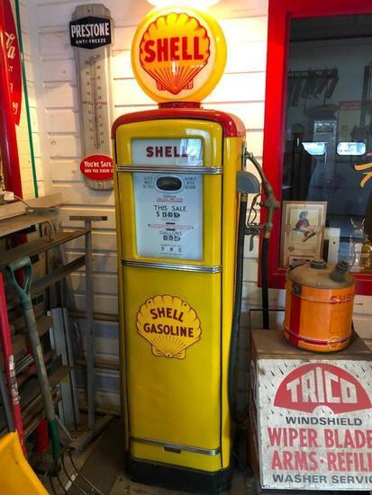 GILBARCO MFG SHELL GAS PUMP COLLECTIBLE GAS PUMP