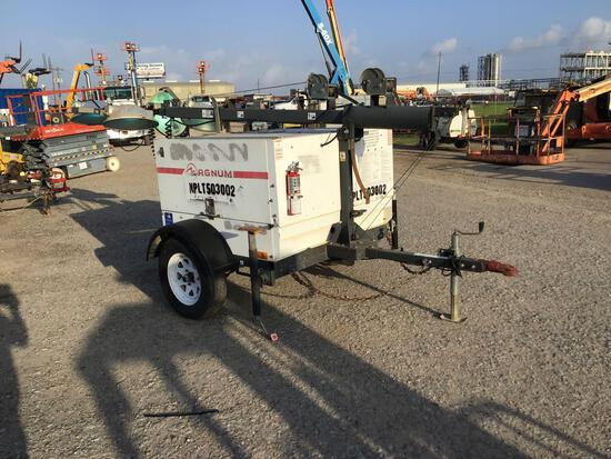 2013 MAGNUM PRO MLT5060 LIGHT PLANT SN:1303363 powered by diesel engine, equipped with 4-1,000 watt