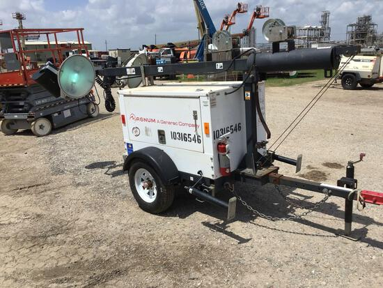 2014 MAGNUM PRO MLT3060 LIGHT PLANT SN:1410166 powered by diesel engine, equipped with 4-1,000 watt