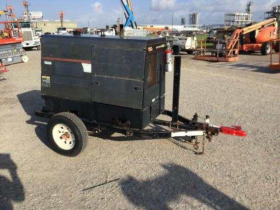 2014 LINCOLN VANTAGE 500 WELDER SN:U1140100593 equipped with 500AMPS, trailer mounted. Located: 8807