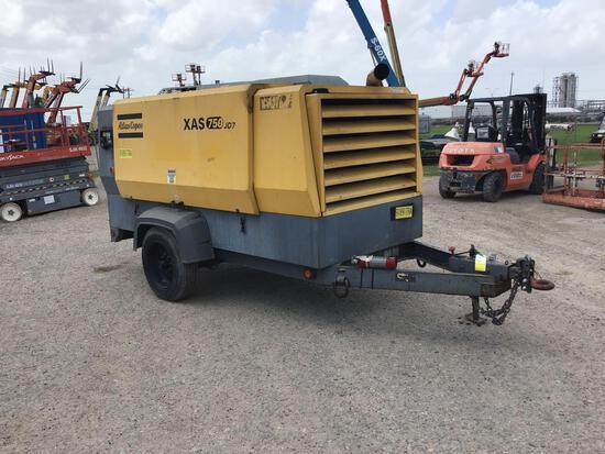 2012 ATLAS COPCO XAS750JDT3 AIR COMPRESSOR SN:HOP080822 powered by John Deere diesel engine, equippe