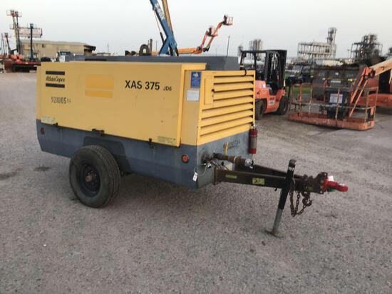 2012 ATLAS COPCO XAS375JD6 AIR COMPRESSOR SN:HOP072815 powered by John Deere diesel engine, equipped