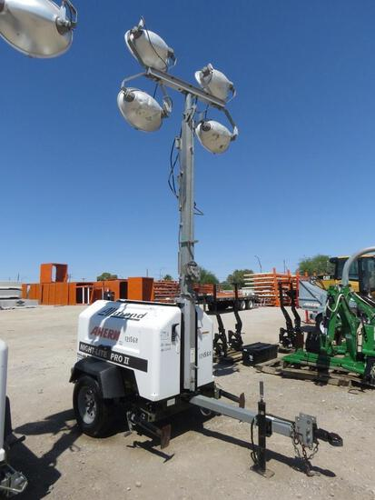 2012 ALLMAND NLPROII LIGHT PLANT SN:3486PRO212 powered by diesel engine, equipped with 4-1,000 watt