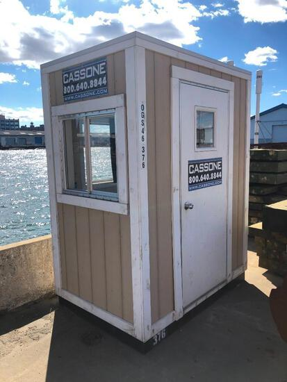 4FT. X 6FT. MINI OFFICE OFFICE TRAILER SN:376 heat, AC, outlets.