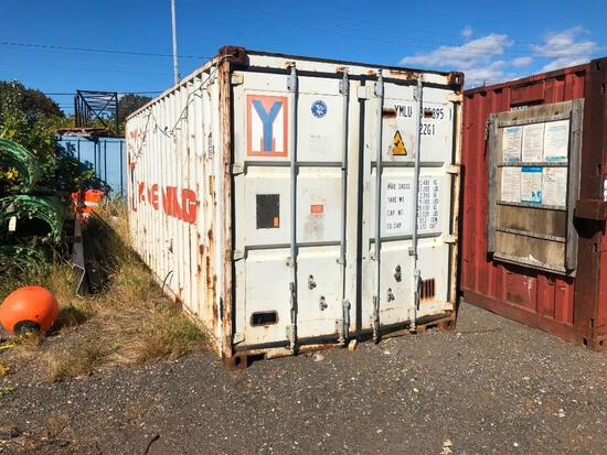 20FT. CONEX CONTANER CONTAINER with rigid foam insulation and plywood walls.