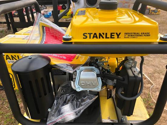 NEW STANLEY ST2WP-LT 2IN. TRASH PUMP NEW SUPPORT EQUIPMENT powered by Lifan gas engine, 7hp, equippe