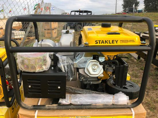 NEW STANLEY ST3TWPLT 3IN. TRASH PUMP NEW SUPPORT EQUIPMENT powered by Lifan gas engine, 13hp, equipp