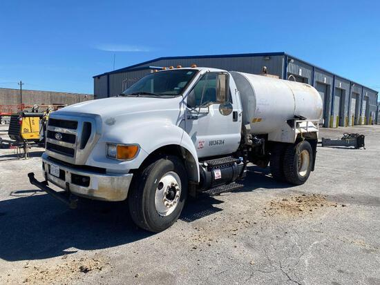2011 FORD F750 WATER WATER TRUCK VN:3FRXF7FA8BV623451 powered by diesel engine, equipped with automa
