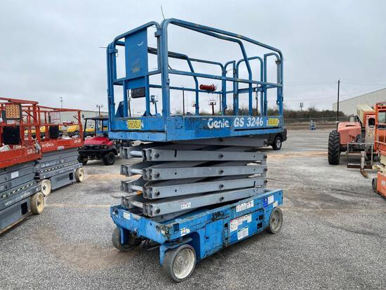 2013 GENIE GS-3246 SCISSOR LIFT SN:GS4613A-114878 electric powered, equipped with 32ft. Platform hei