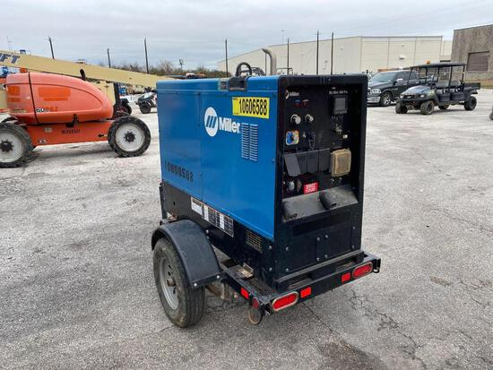 2017 MILLER BIG BLUE 500PRO WELDER SN:MH180976R equipped with 500AMPS, trailer mounted. Located: 280