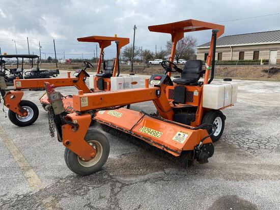2014 LAYMOR SM30 SWEEPER SN:35293 powered by diesel engine, equipped with OROPS, 8ft. Broom, water s