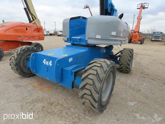 2008 GENIE S-85 BOOM LIFT SN:S8008-7215 4x4, powered by diesel engine, equipped with 85ft. Platform