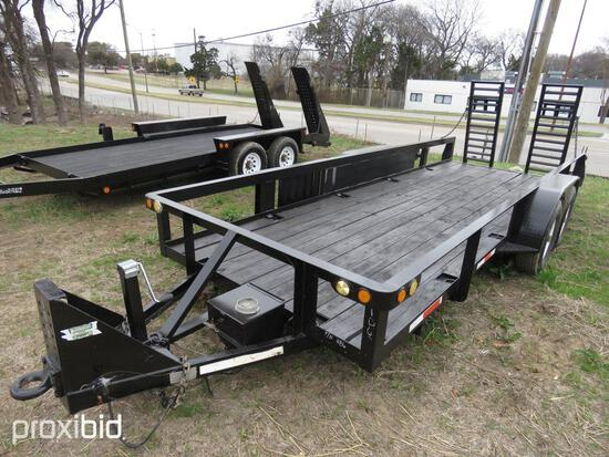 2003 POWLEDGE TAGALONG TRAILER VN:TC120032010PMF1186 equipped with 16ft. Deck, tandem axle.