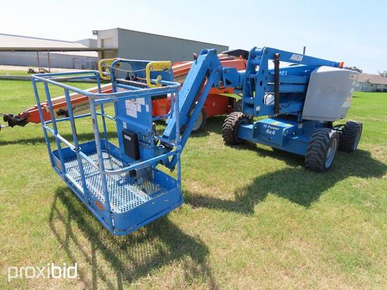 2014 GENIE Z-45 IC BOOM LIFT SN:Z452514A-50127 4x4, powered by diesel engine, equipped with 45ft. Pl
