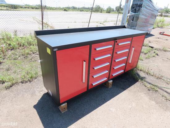 NEW STEELMAN 7FT. WORKBENCH W/ 10-DRAWERS & 2 CABINETS NEW SUPPORT EQUIPMENT