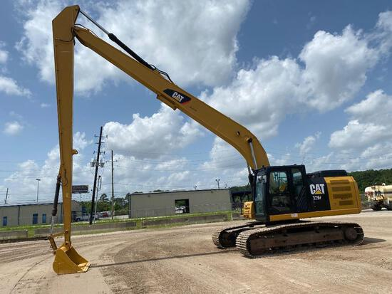2016 CAT 326FL LONG REACH EXCAVATOR SN:WGL00749 powered by Cat diesel engine, equipped with Cab, air