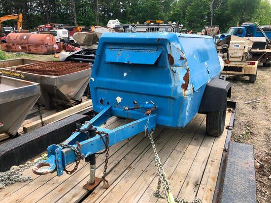 INGERSOLL RAND P185W AIR COMPRESSOR SN:204059 powered by John Deere diesel engine, equipped with 185