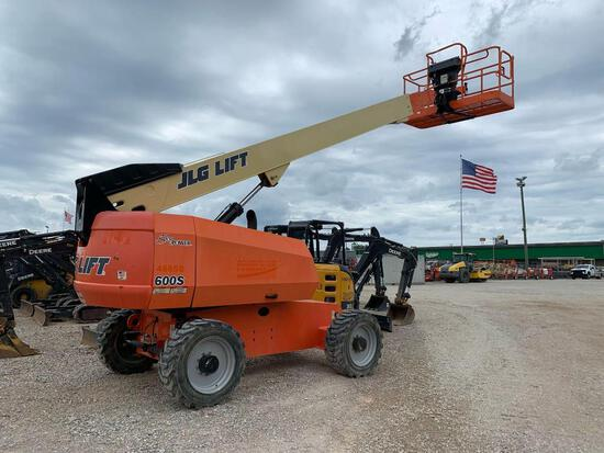 2015 JLG 600S BOOM LIFT SN:300197869 4x4, powered by diesel engine, equipped with 60ft. Platform hei