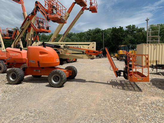 2015 JLG 450AJ BOOM LIFT SN:300198280 4x4, powered by diesel engine, equipped with 45ft. Platform he