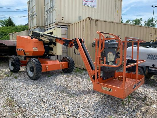 2015 JLG 340AJ BOOM LIFT SN:300196785 4x4, powered by diesel engine, equipped with 34ft. Platform he